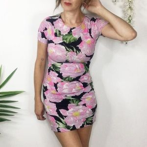 FRENCH CONNECTION floral bodycon mini dress
